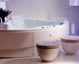 banheira de hidro de canto