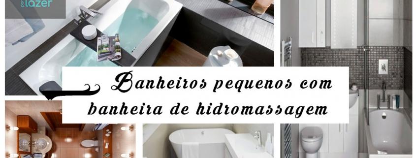 23 Banheiros pequenos com banheira de hidro